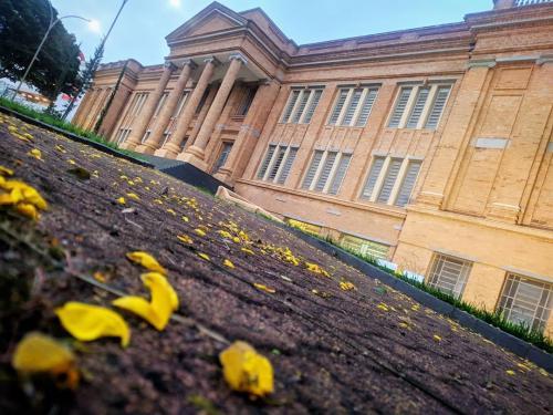 Detalhe da fachada do prédio histórico do SPS.